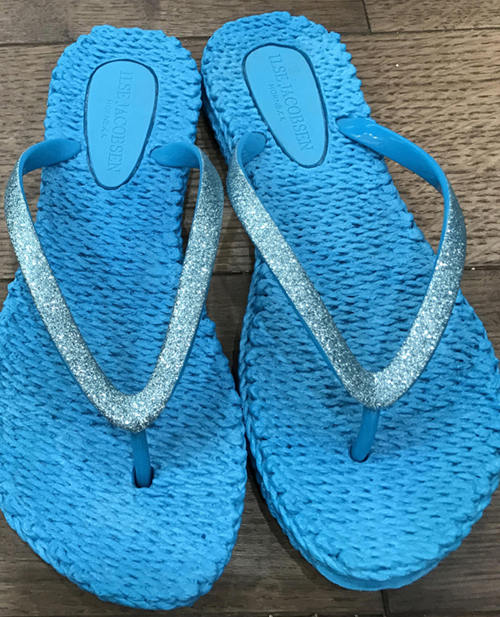 Ilse Jacobsen Flip Flops Lake Blue